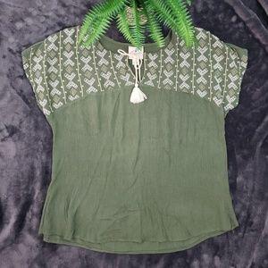 St. John's Bay Boho Olive T-Shirt